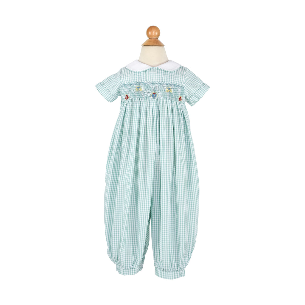 Smocked Bugs Long Bubble- Sample Size 2T