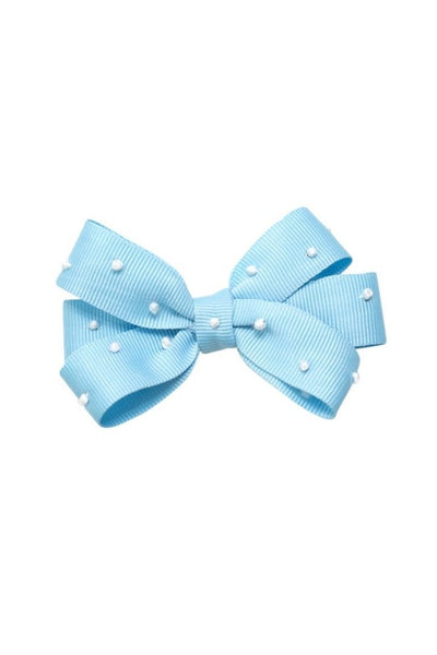 Blue Grosgrain Bow