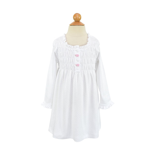 AK Nightgown - Pink Dot- Sample Size 4T