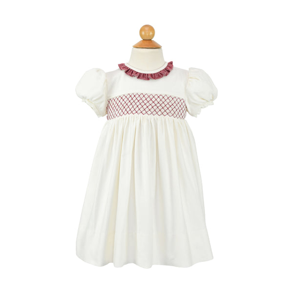 Ruby Dress- Cream Corduroy