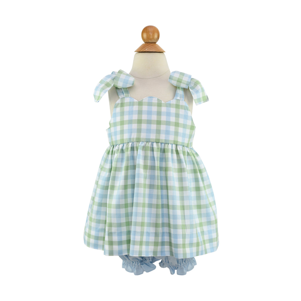 Anna Belle Bloomers - Blue Pique - Size 18m