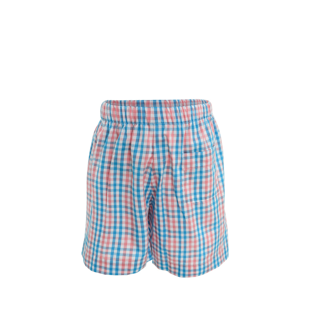 *George Shorts - Coral/Sea Checks- AKF