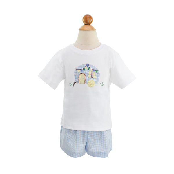 Boy Airstream Applique Shirt-Sample Size 2T