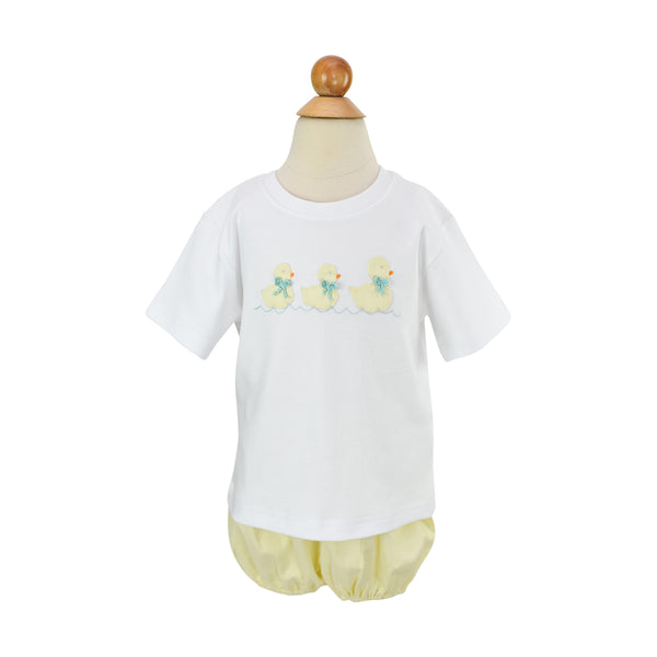 Boy Ducks Applique Shirt