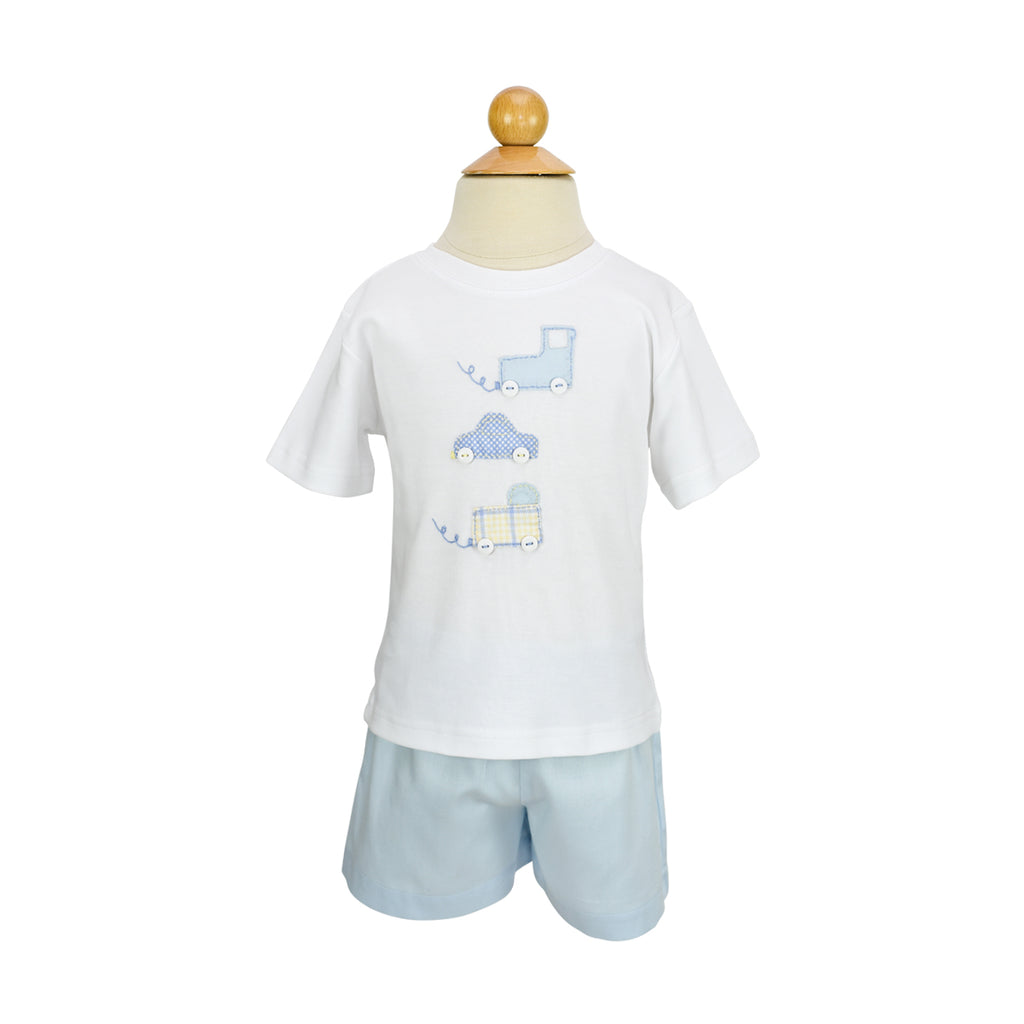 Stacked Cars Applique Shirt- Sample Size 3T