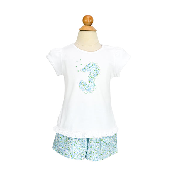 Seahorse Applique Shirt- Sample Size 3T