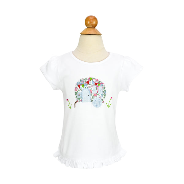 *Girl Airstream Applique Shirt- AKF