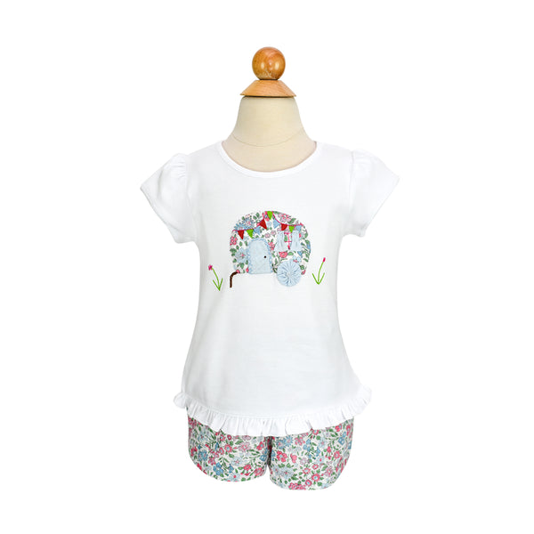 Girl Airstream Applique Shirt- Sample Size 3T