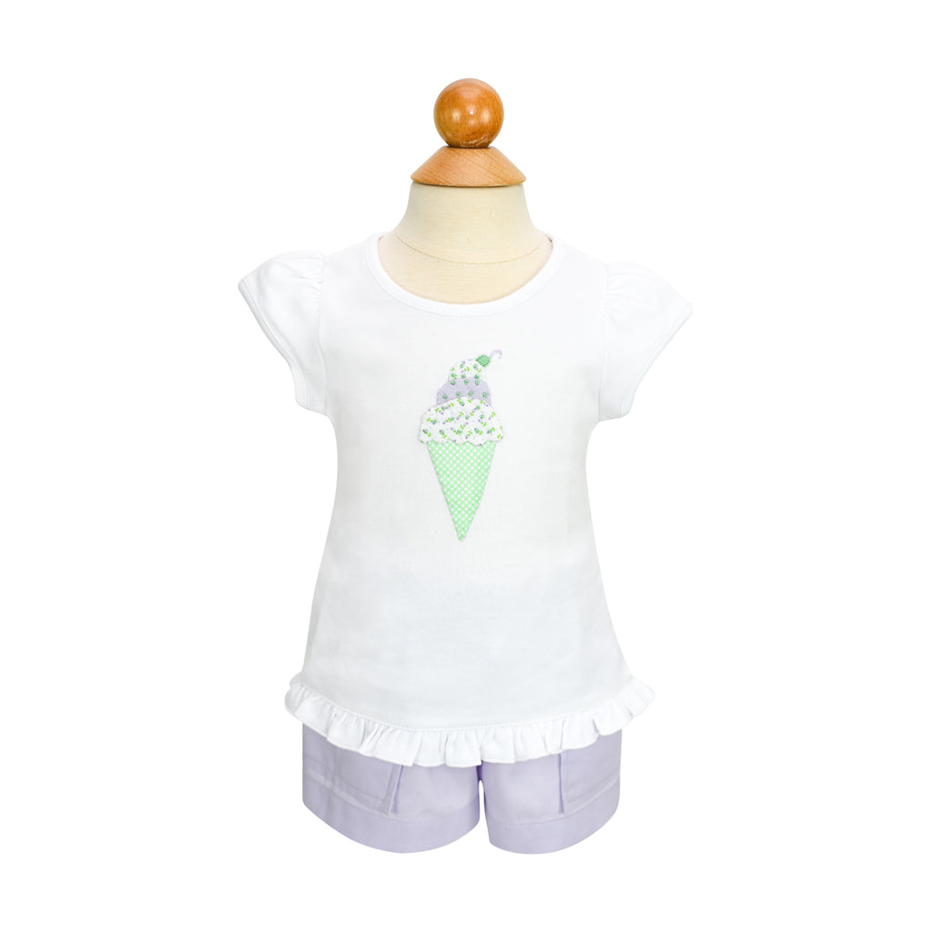Ice Cream Applique Shirt- Sample Size 18m