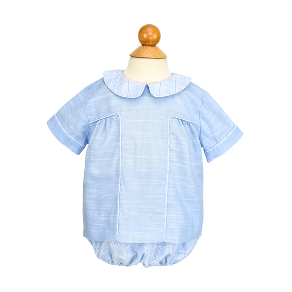 Bradford Bloomers - Blue Plaid - Size 18m