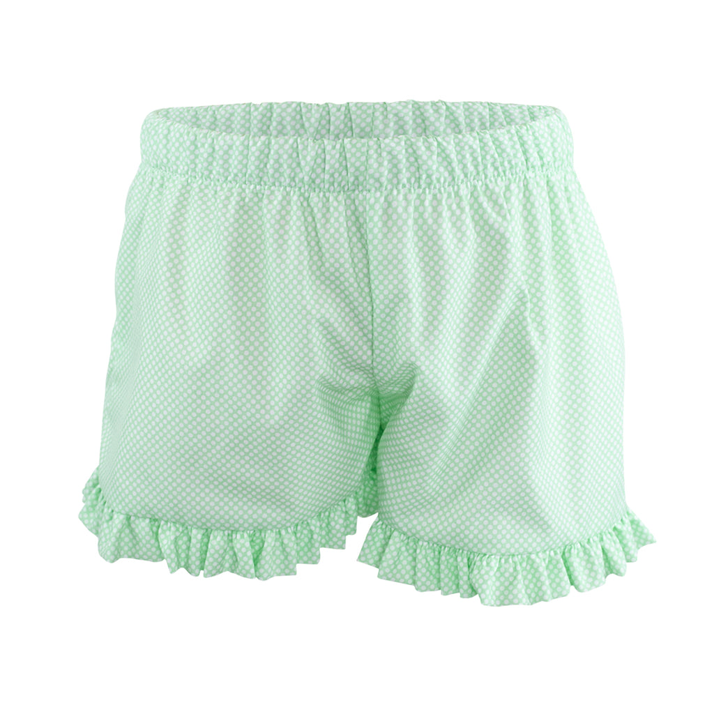 Francie Short - Green Bitty Dot Size 4T