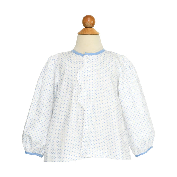 Smocked Flower Apron Blouse