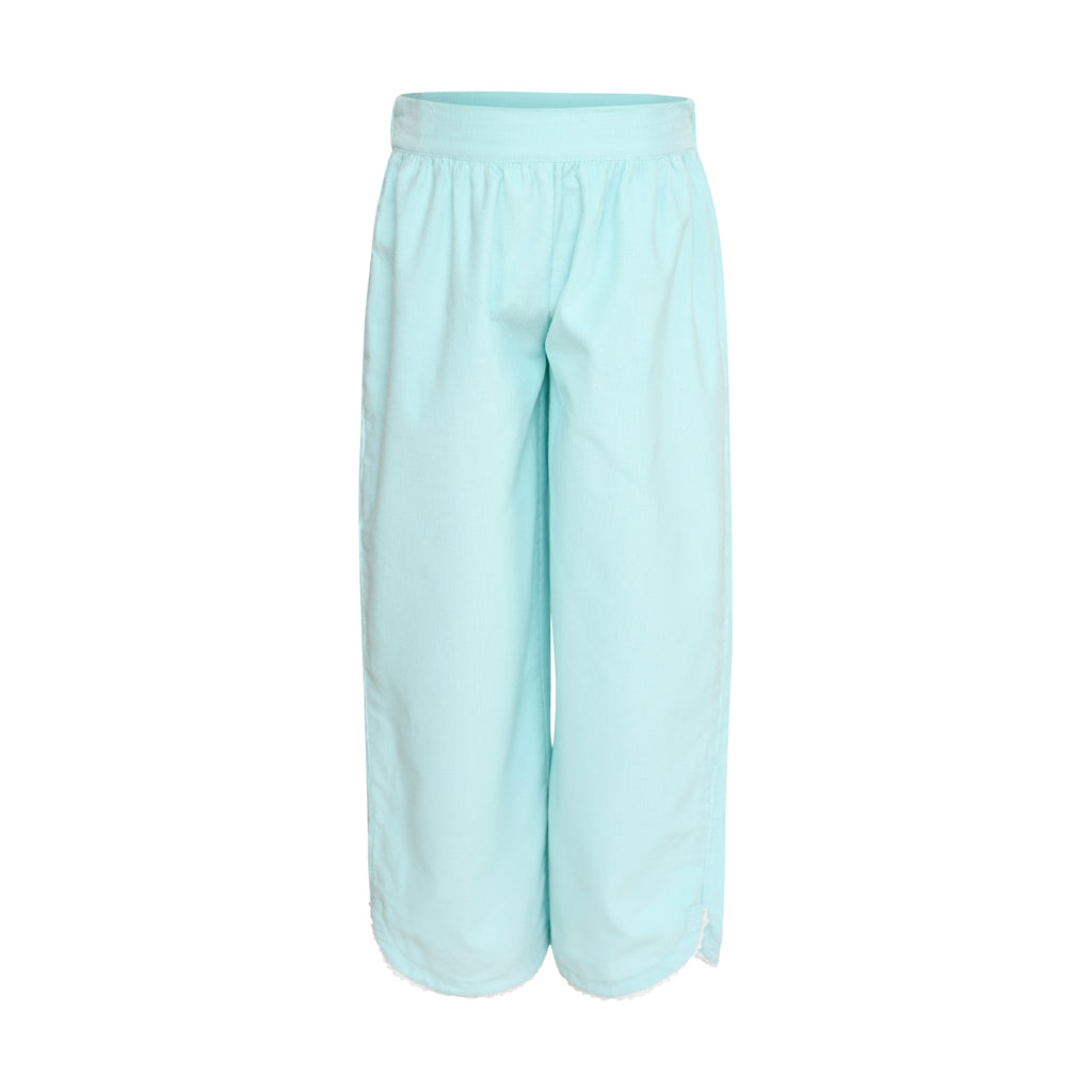Carolyn Pant in Aqua Corduroy