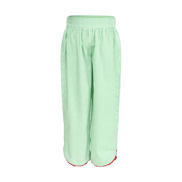 Carolyn Pant  in Green Gingham