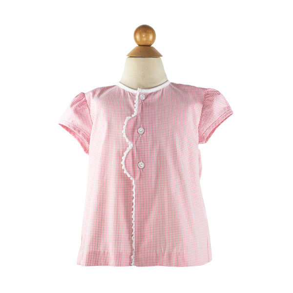 Smocked Ice Cream Cone Blouse Size 2T