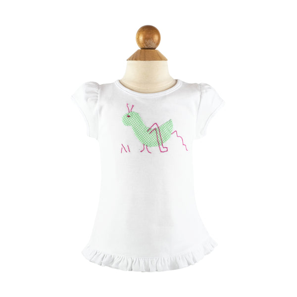 *Girl Applique - Grasshopper- AKF