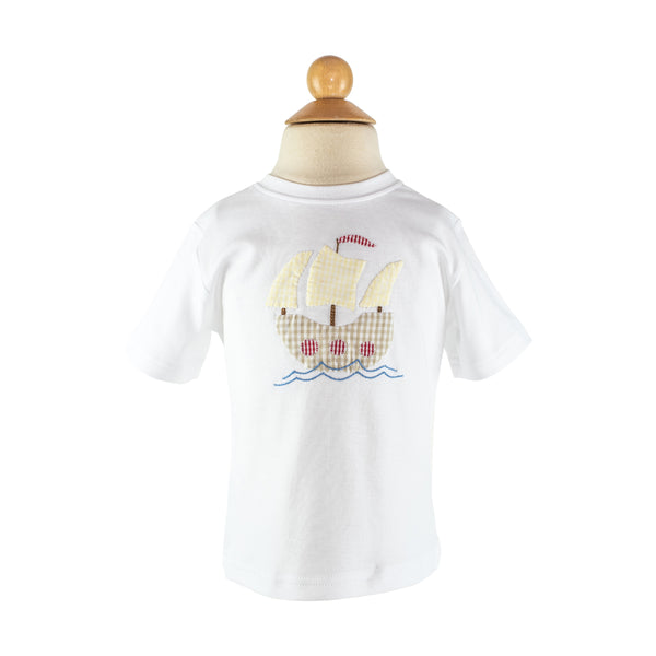 Boy Applique - Pirate Ship