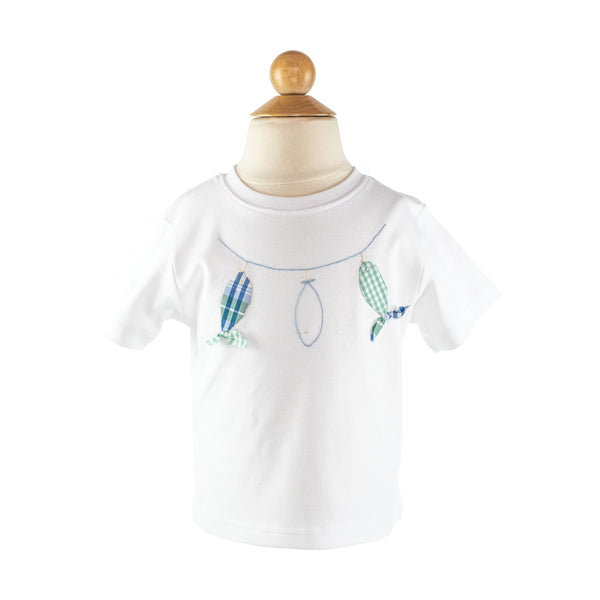 Boy Applique - Fish on Line