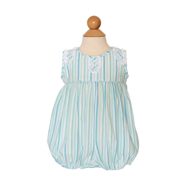 Isabella Bubble - Aqua Stripe Fabric