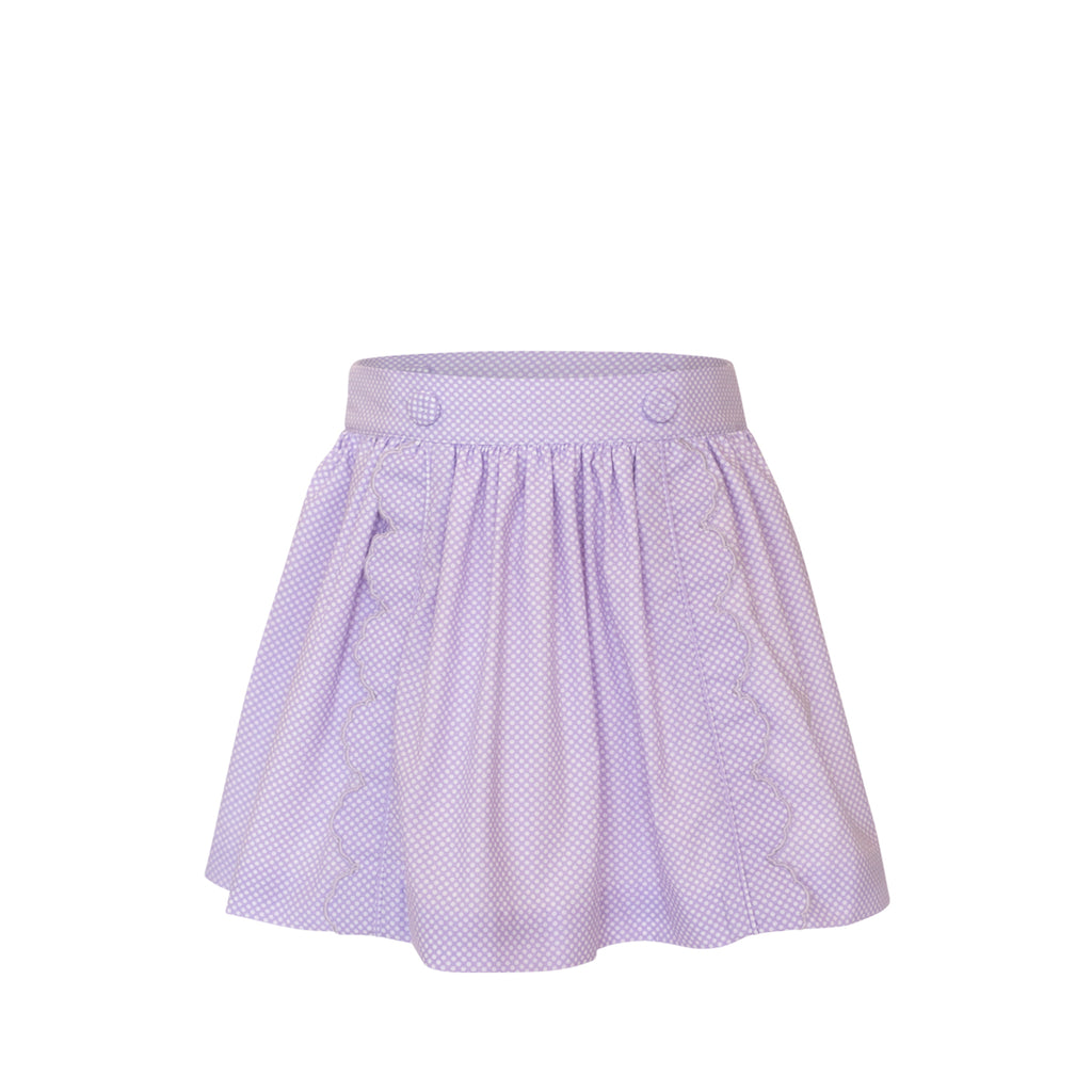 Scalloped Skirt - Lilac Bitty Dot