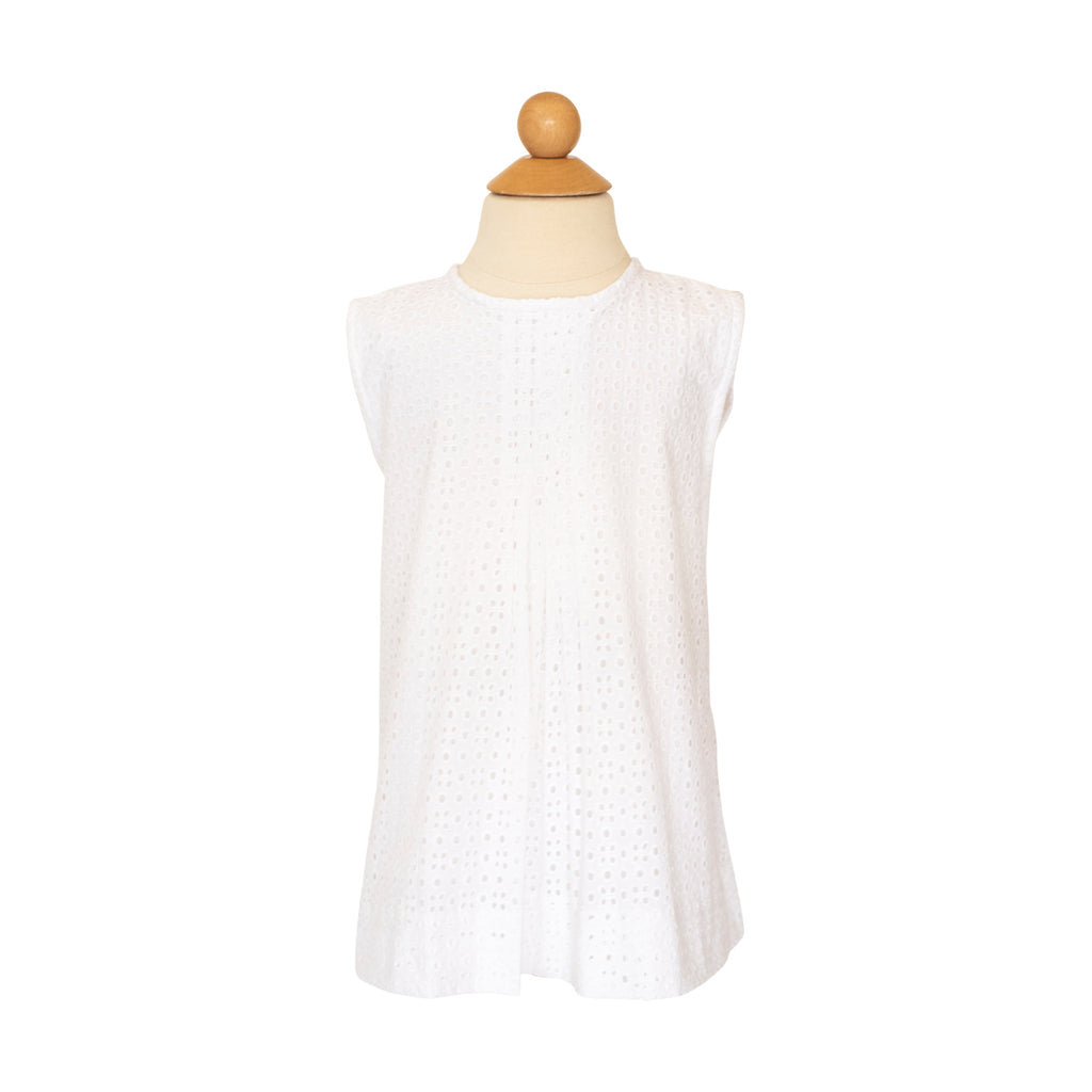 Grace  Blouse - White Eyelet
