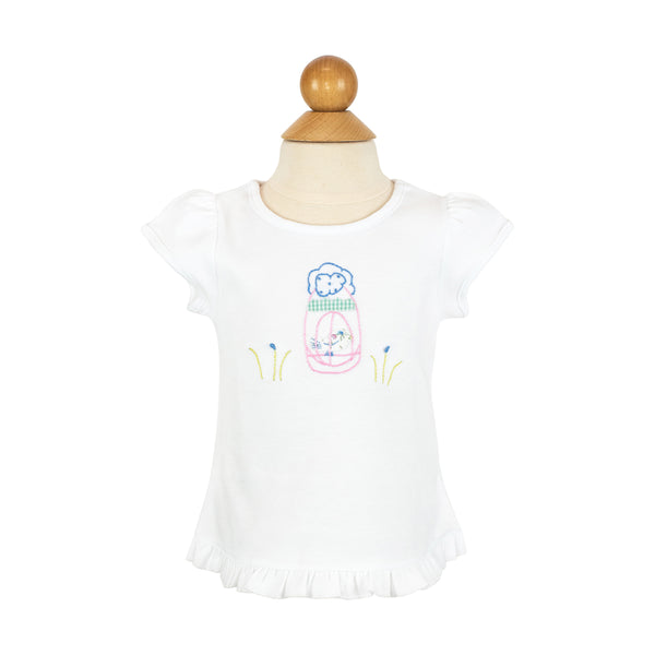 *Bird Cage Applique Shirt- AKF