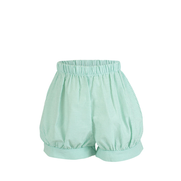 Bloomer Shorts - Aqua Gingham