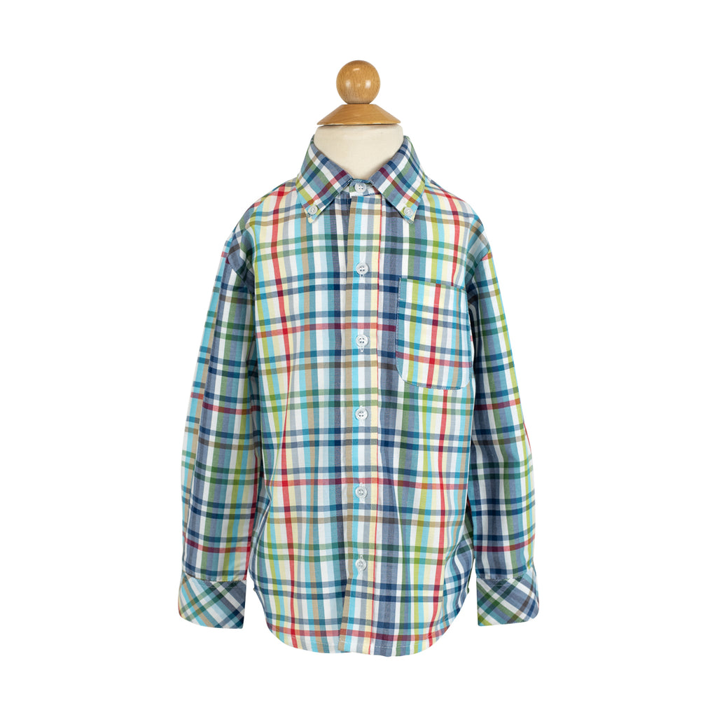 Button Down Shirt- Spanish Tricheck