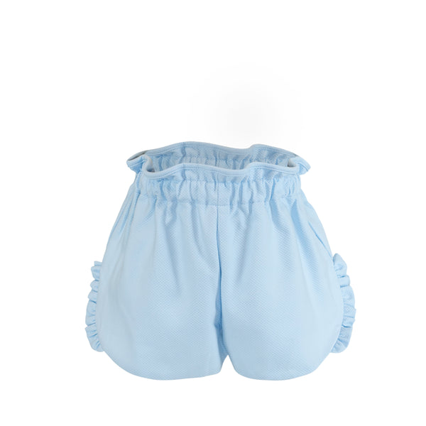 Annie Shorts - French Sky Birdseye Pique