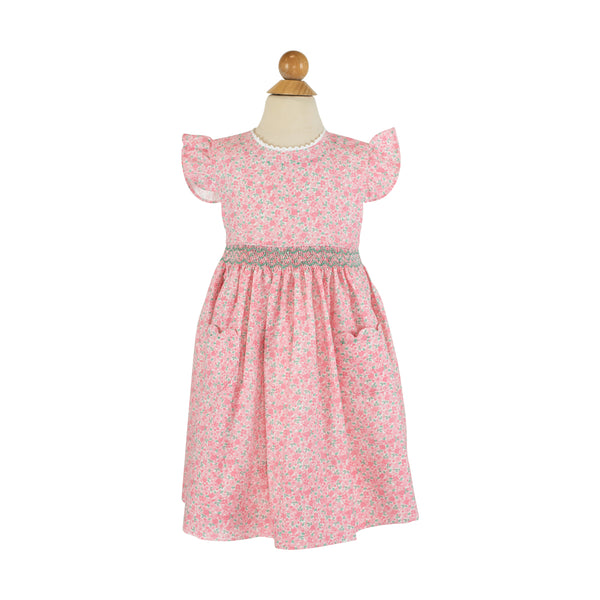 Smocked Flutter Waist Dress