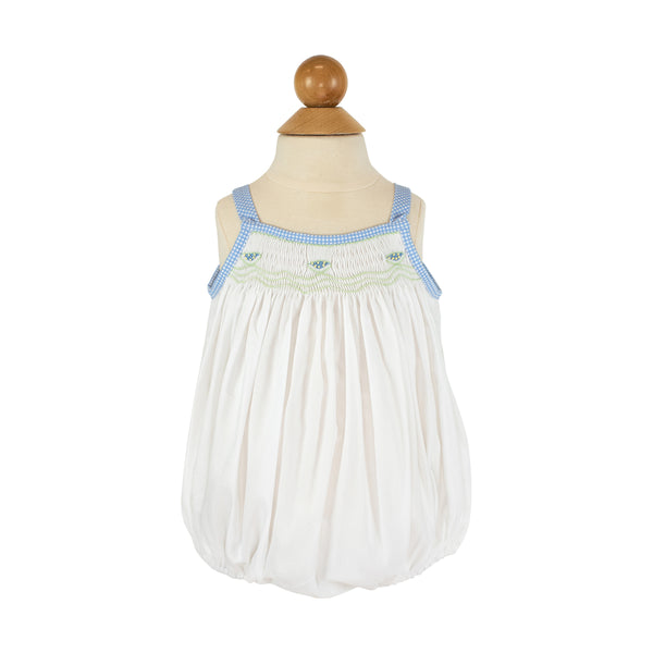 Smocked Watermelon Bubble - Blue