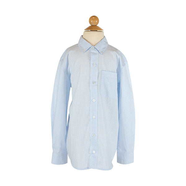 Button Down  Shirt - Sky Gingham