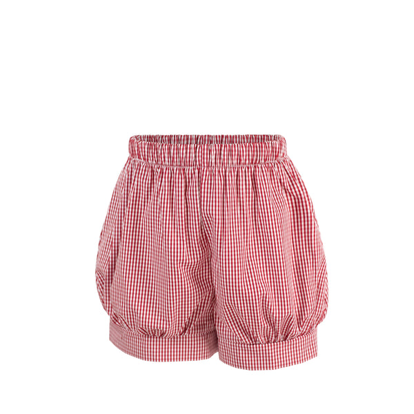 Band Short - Red Gingham