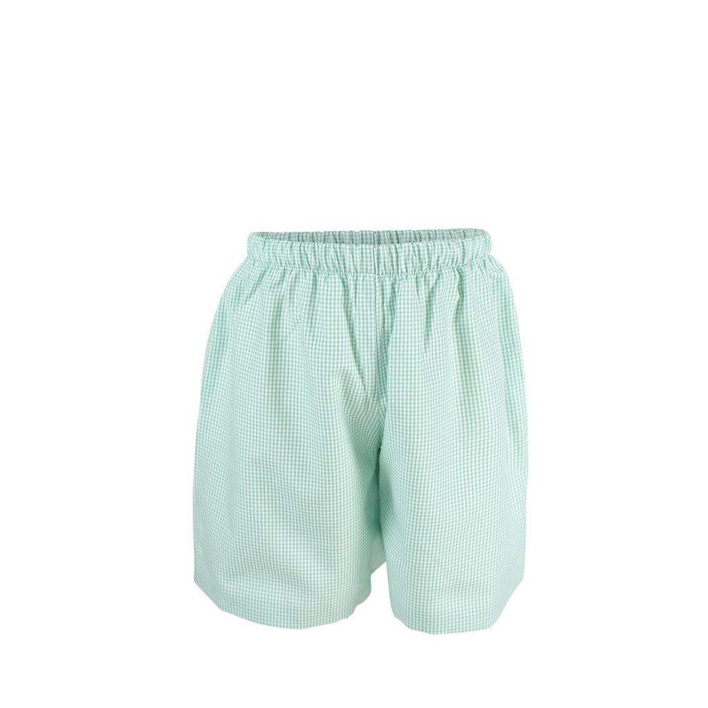 George Shorts - Aqua Gingham