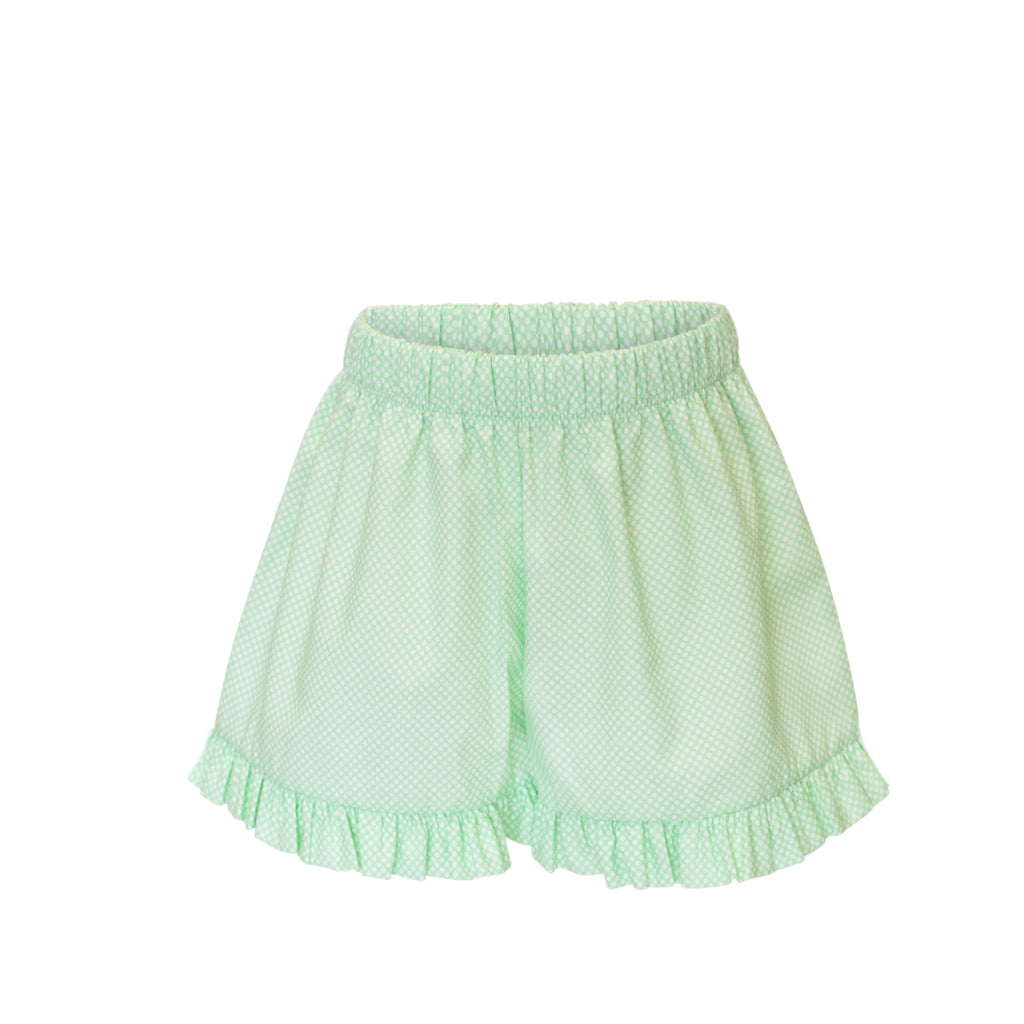 Francie Shorts - Grass Bitty Dot