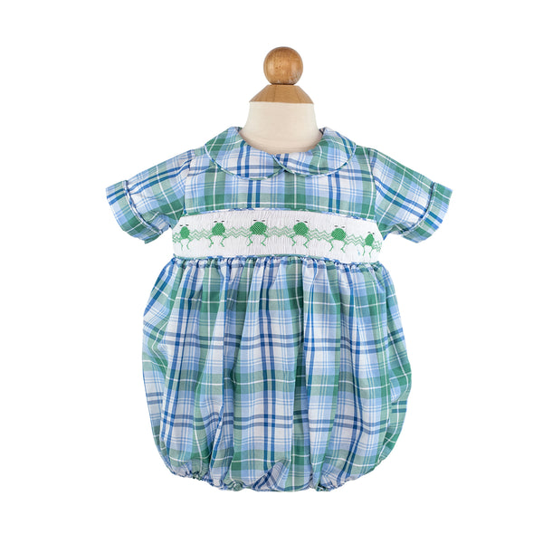 Smocked Frog Bubble Size 2T