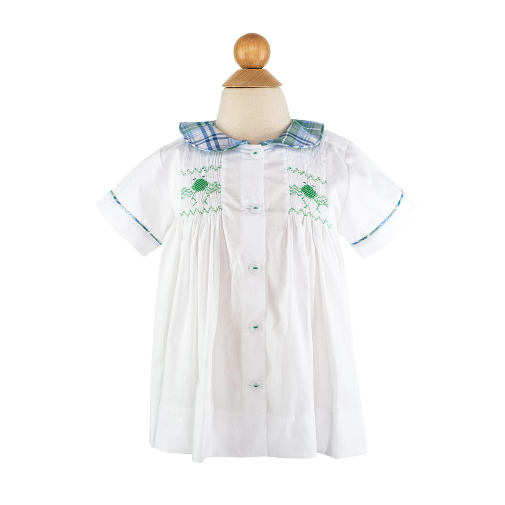 Smocked Frogs Shirt Size 3T
