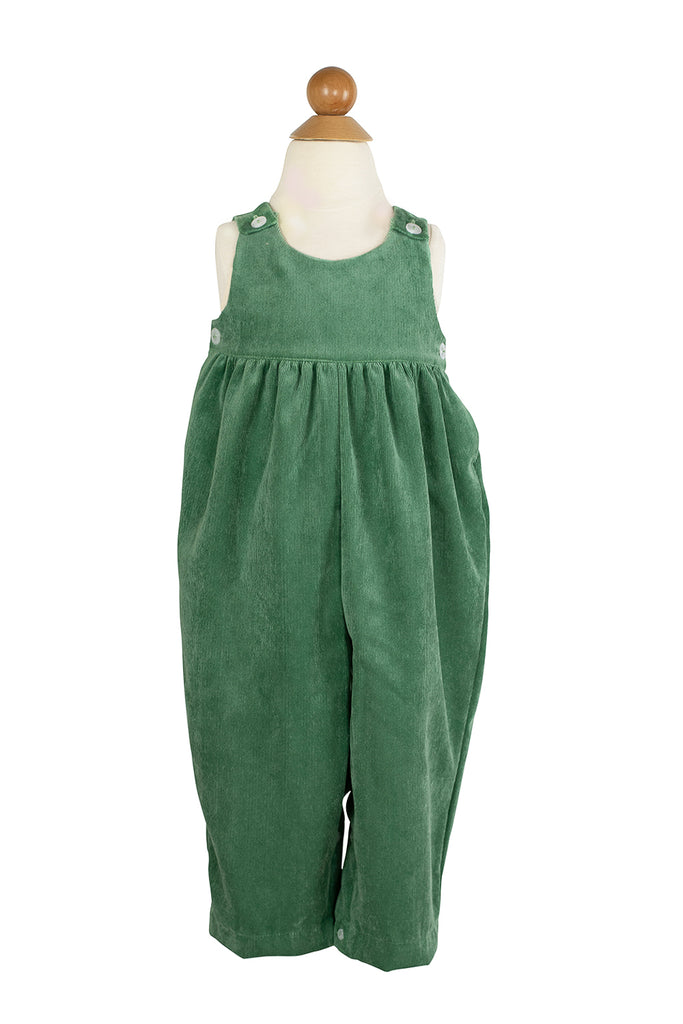 Everyday Overall in Grass Green Corduroy