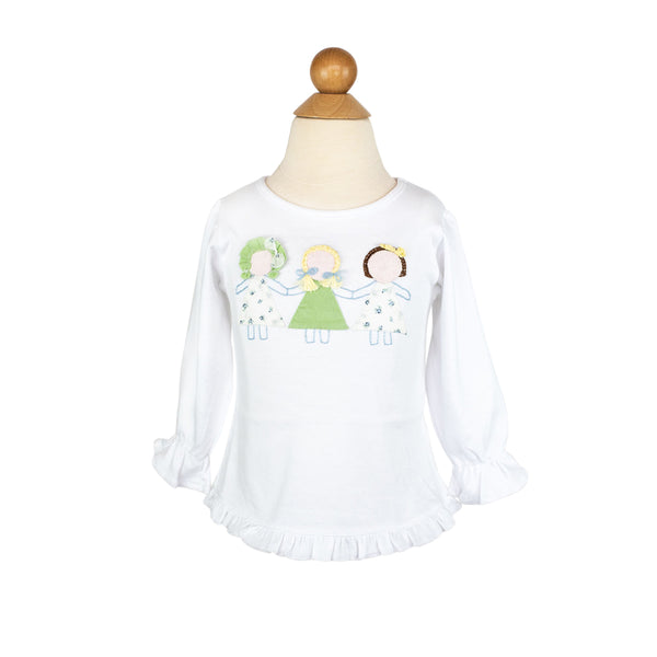 Paperdolls Applique Shirt-AKF