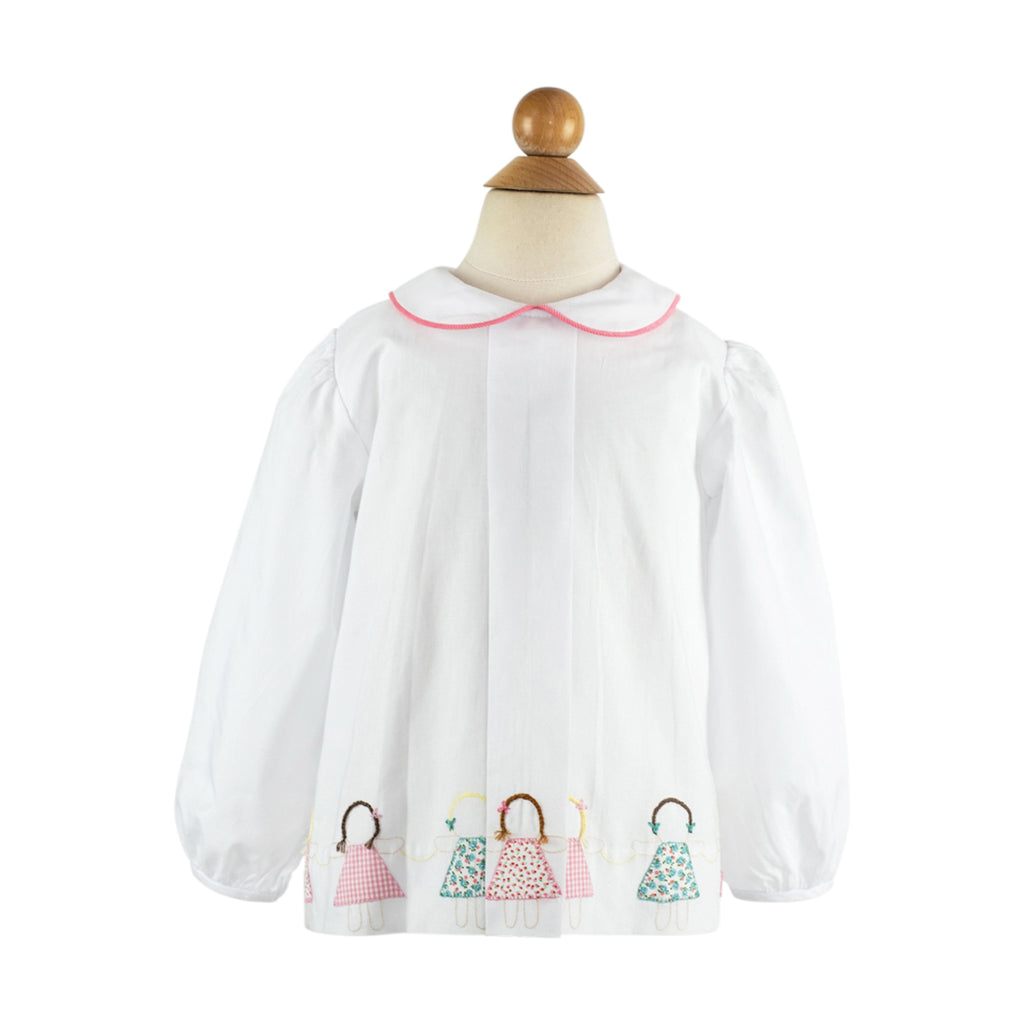 Paperdoll Blouse Long Sleeve- Sample Size 3T