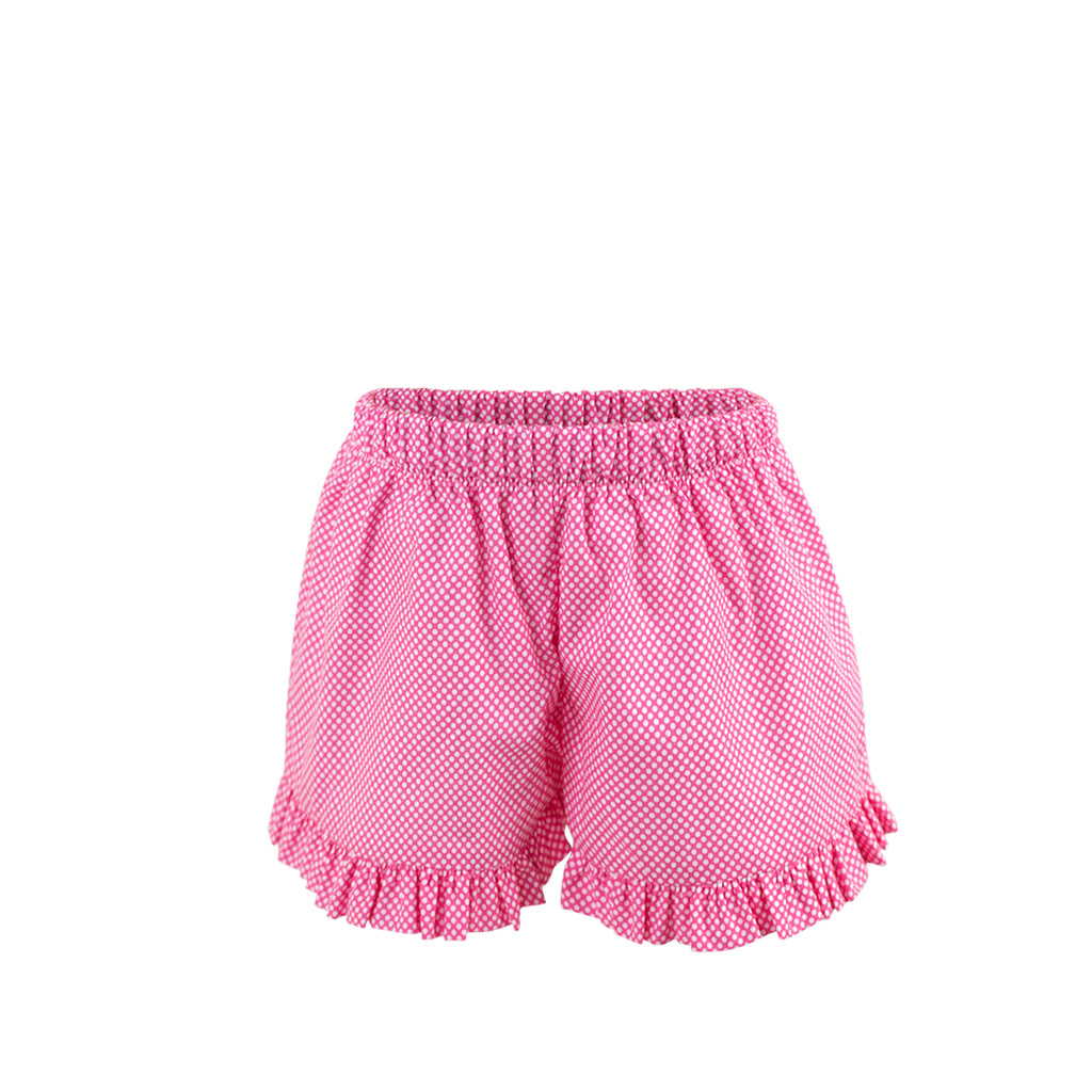 *Francie Shorts- Bright Pink Bitty Dot- AKF