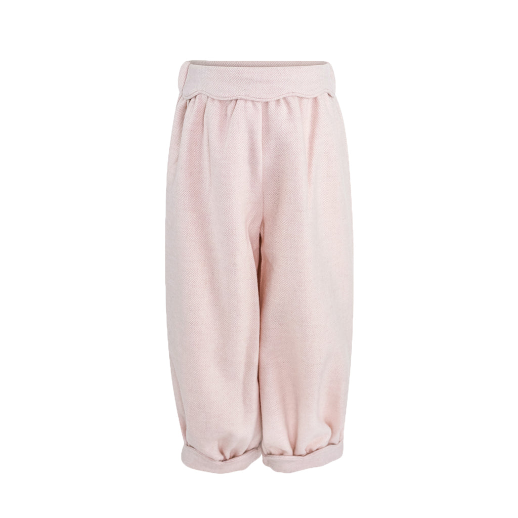 Scalloped Bloomer Pant- Pink Wool Sample Size 3T