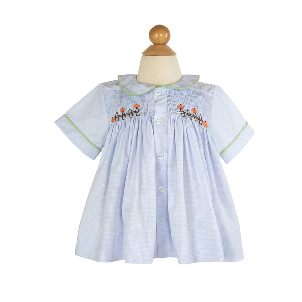 Smocked Pumpkin Shirt