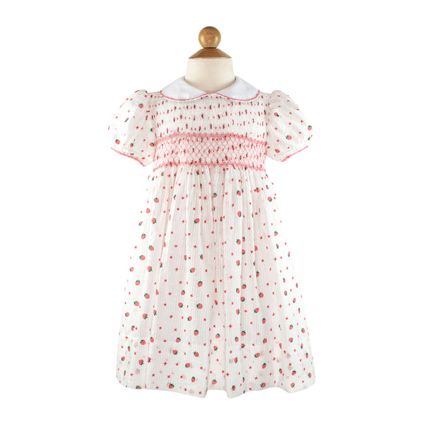 Smocked Frock - Strawberry Plumetti