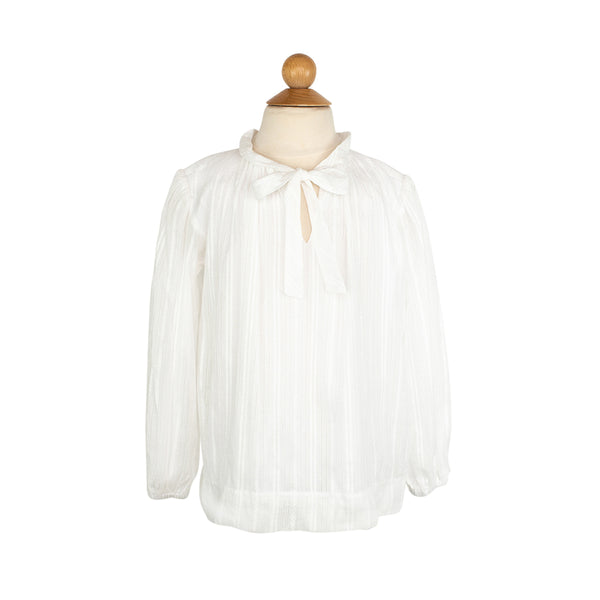 Ruffle Bow Blouse- Heirloom Cotton