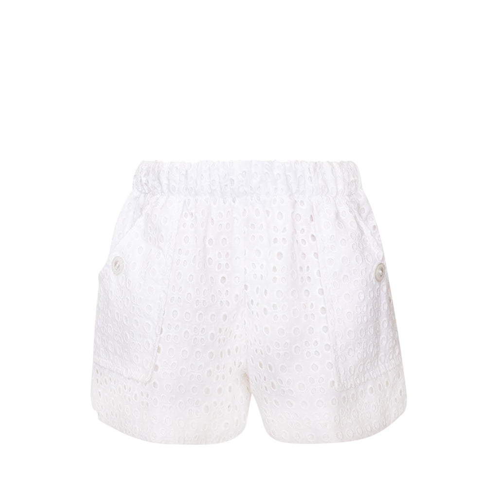 Emme Shorts - White Eyelet