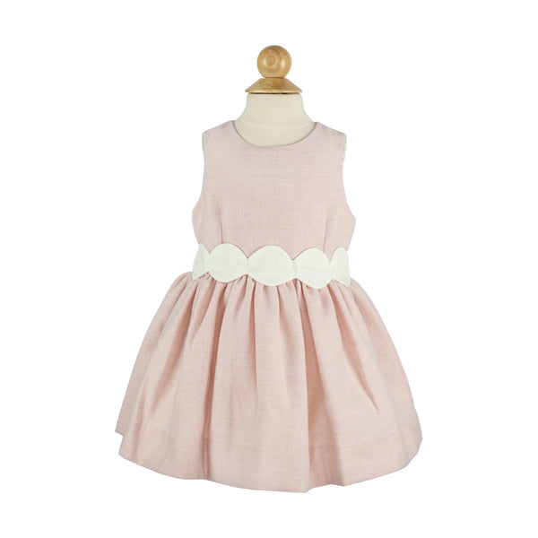 Avery Dress- Pink Featherstitch Wool-AKF