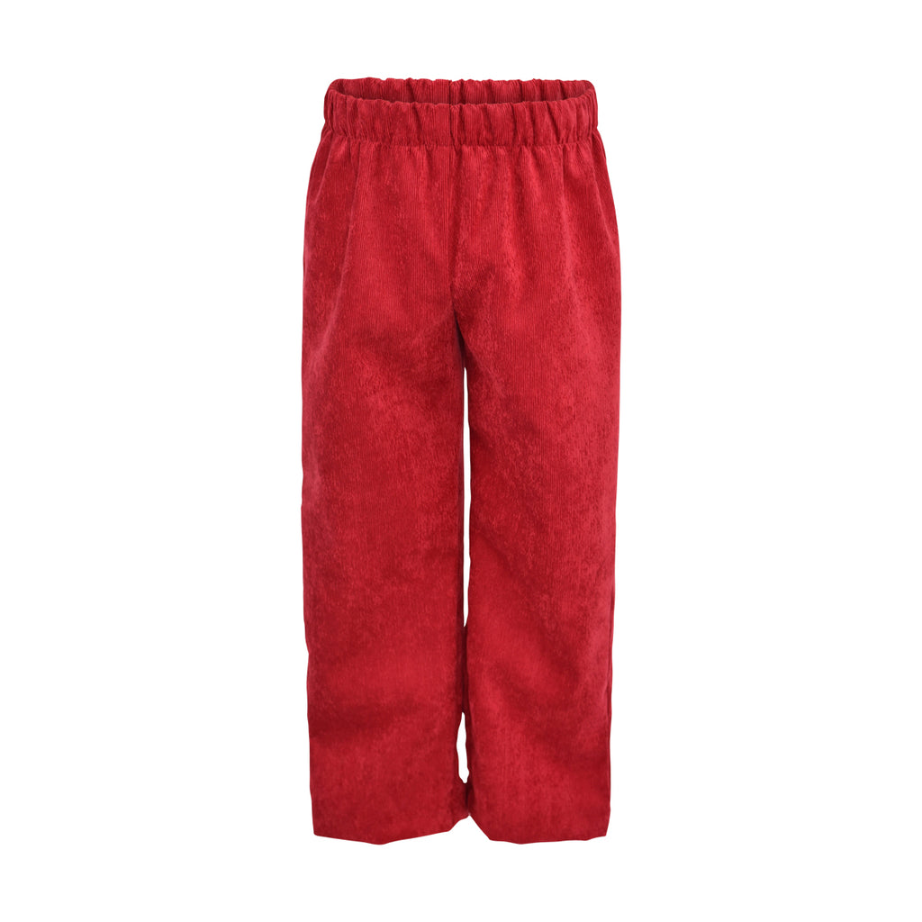 Classic Pant- Berry Non-Wrinkle Corduroy