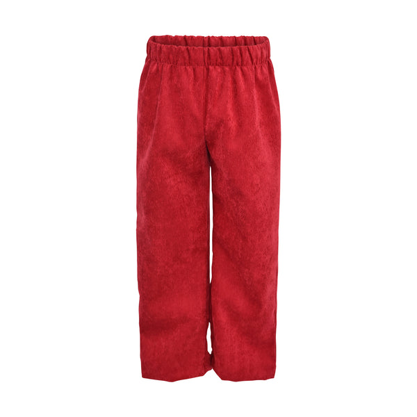 Classic Pant- Berry Non Wrinkle Corduroy