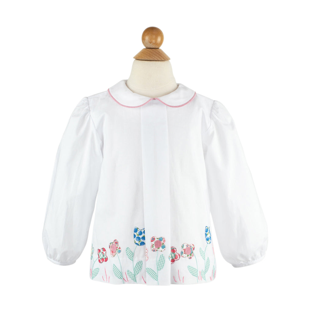 Embroidered Flower Top-AKF
